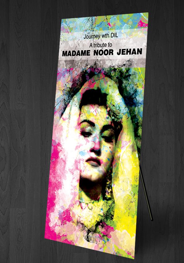 Noor jehan Standee design