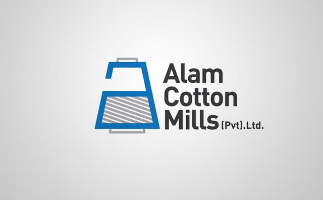Alam Cottons Logo Design