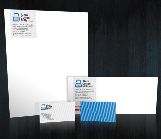 Alam Cottons Stationery Design option