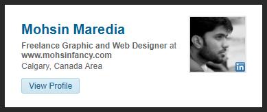 Mohsin Fancy LinkedIn Profile Badget