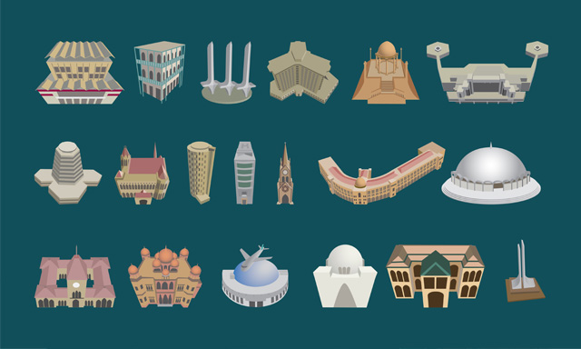 Karachi Landmark Illustrations