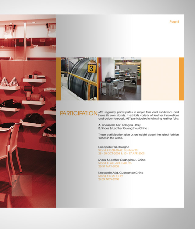 Company Profile - Inner Page layout