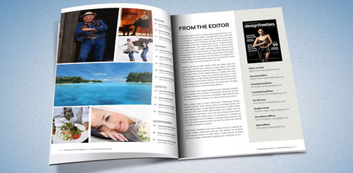 indesign magazine template mockup