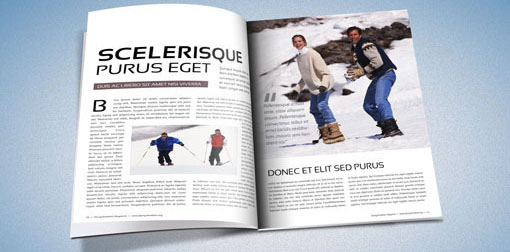 indesign magazine template mockup