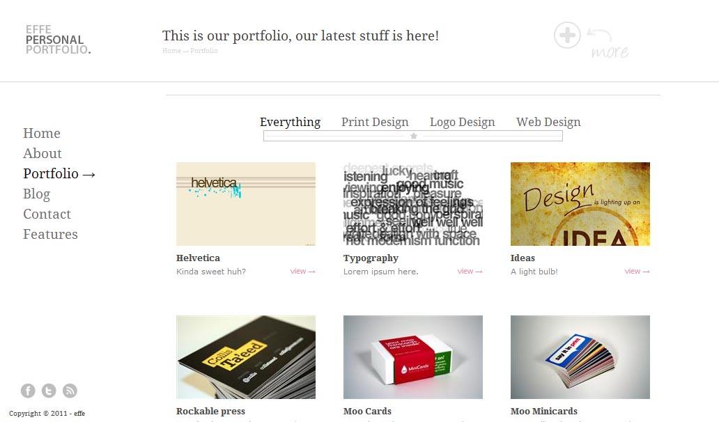 Effe Free HTML Template Portfolio