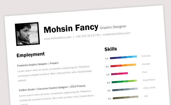 Elegant Resume Illustrator Template