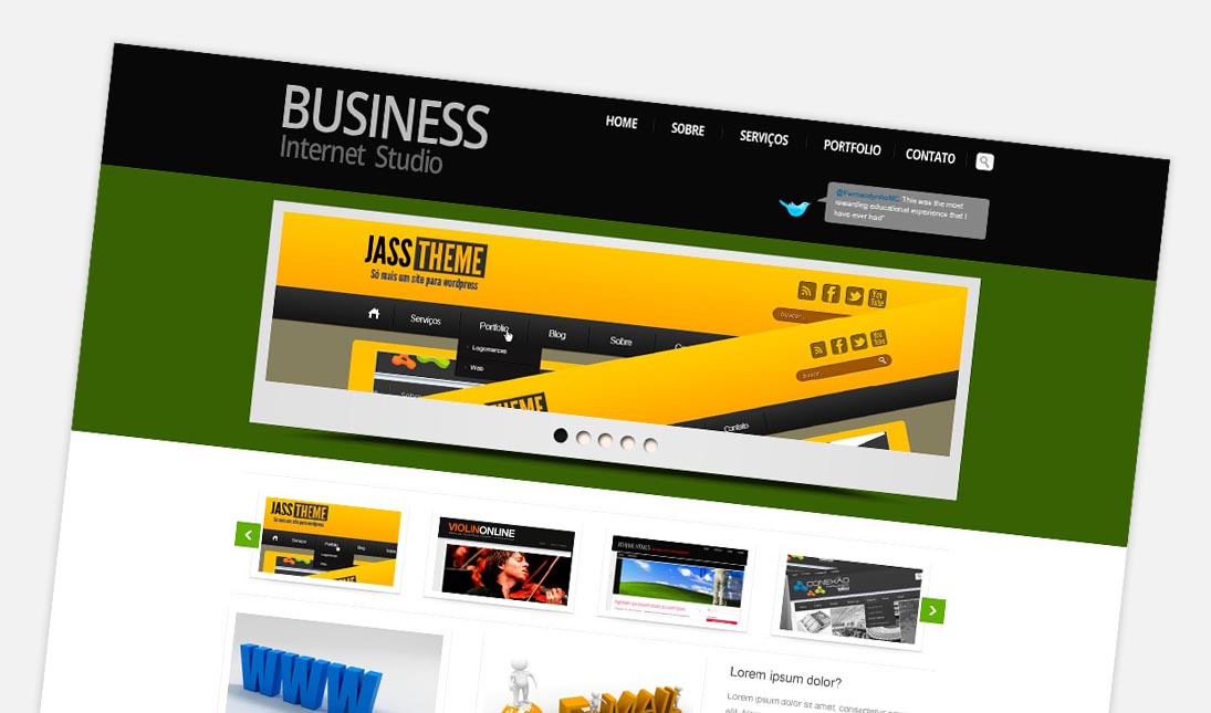 Free Business Website Layered PSD