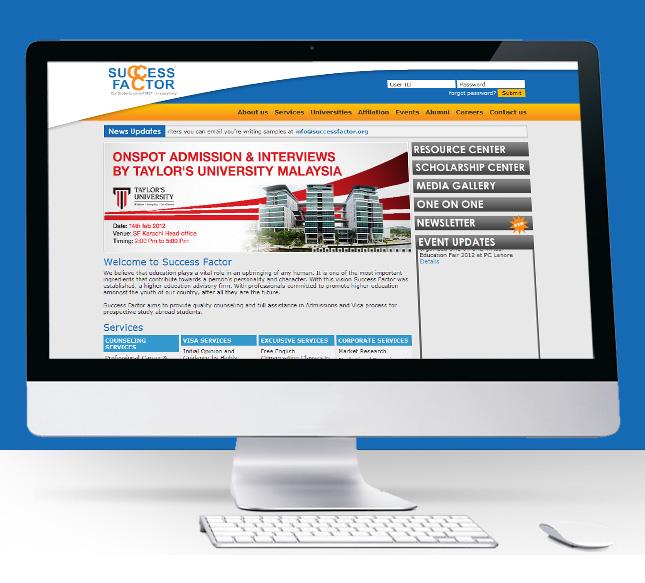 Success Factor Website Screen Shot