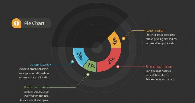 Info-graphic Graph Pie Bar Chart