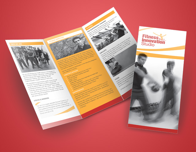 Brochure Design For Fitness Studio