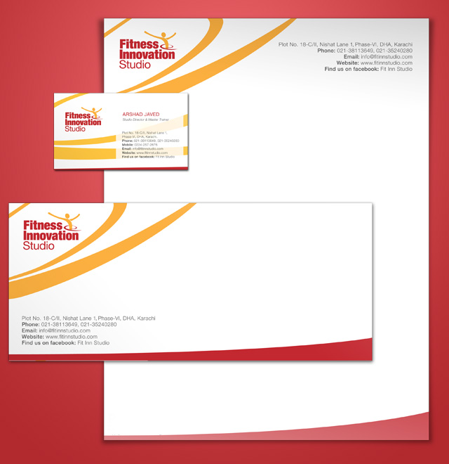 Stationery Design for Fitness Industry