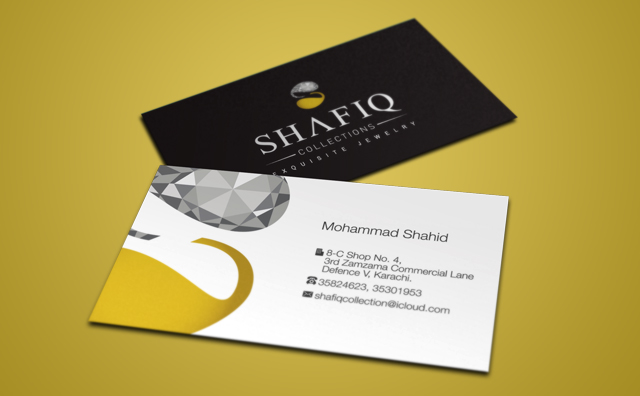 Shafiq Collection Business Card Design