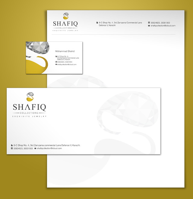 Shafiq Collection Stationery Design