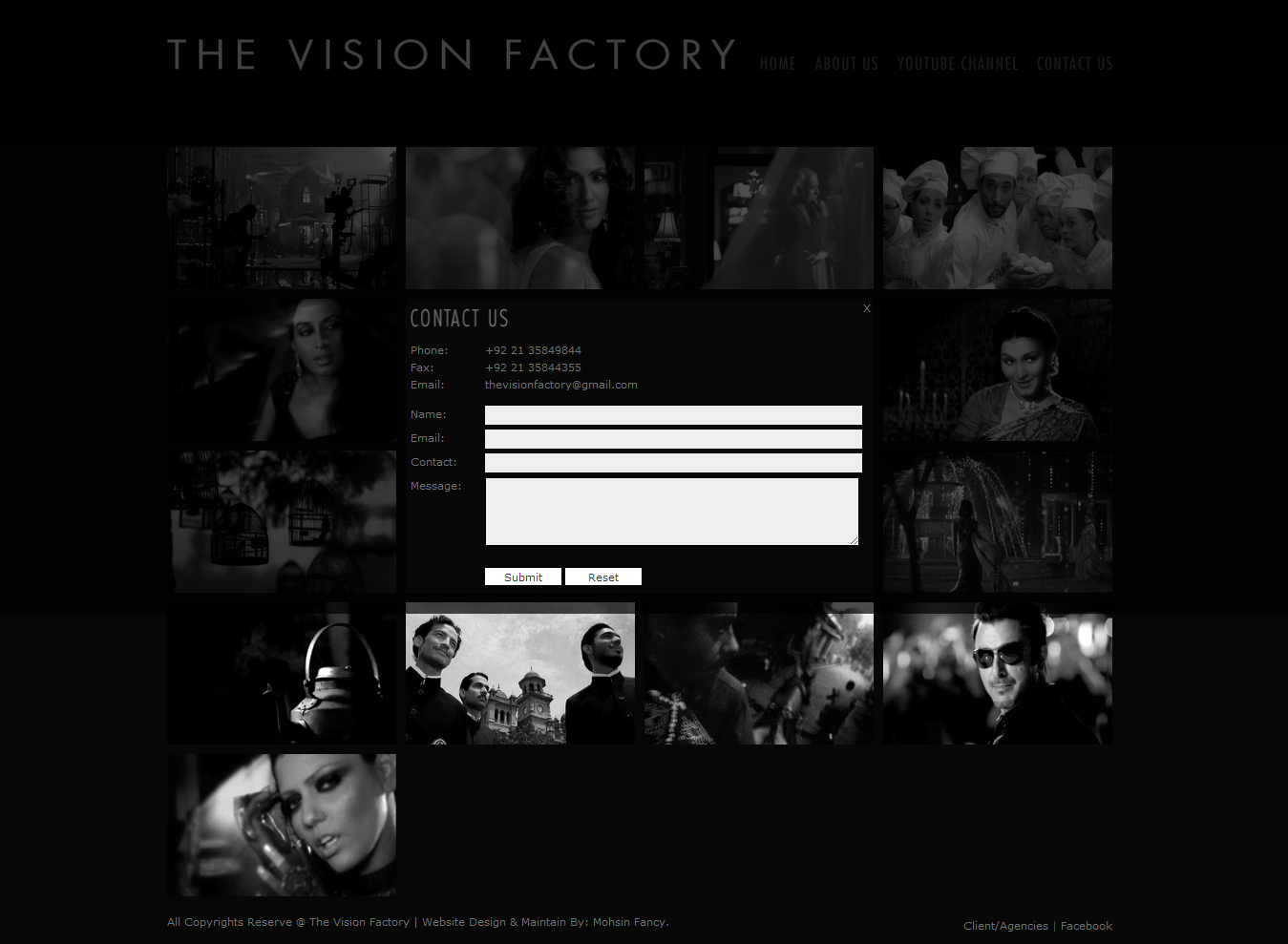 Asim Raza The Vision Factory Contac US PAGE