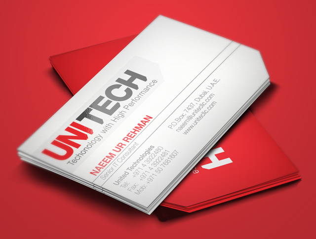 Business Card Design for Unitech