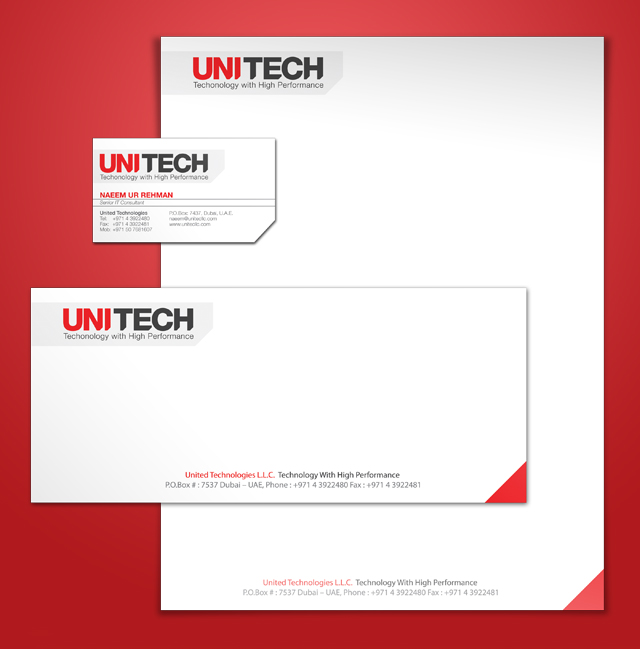Stationery Set Design For Unitech