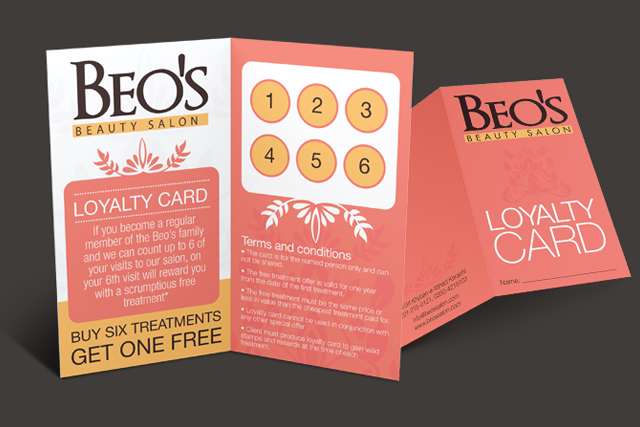 Loyalty Card - Beo's Beauty Salon