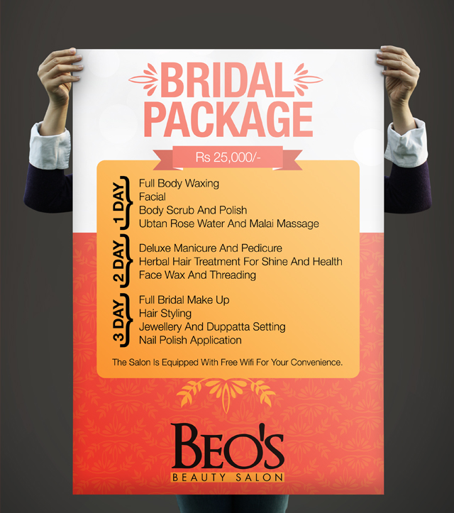 Discount Poster Design - Beo's Salon