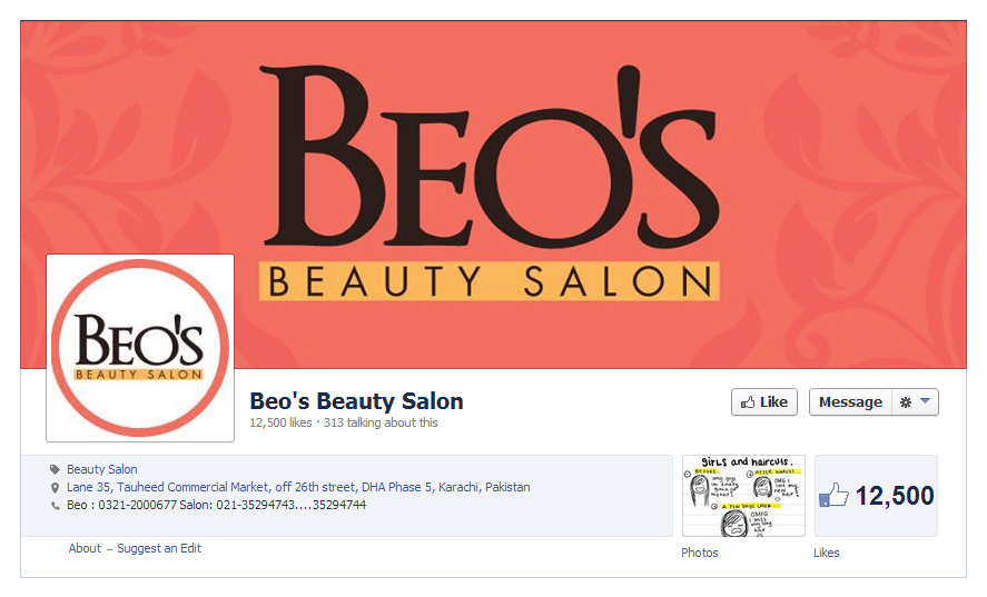 Social Media CoverPage - Beo's Salon