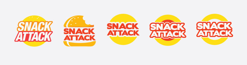 Logo Options for Snack Attack