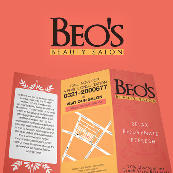 Salon Branding for Beo's Beauty Salon