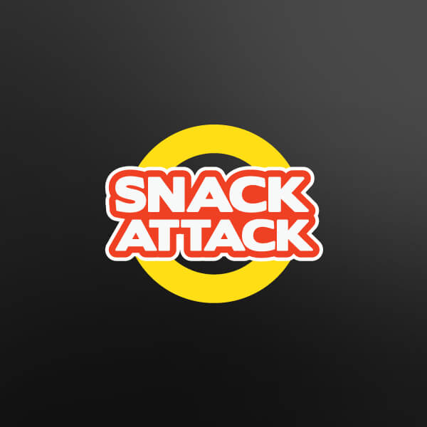 Snack Attack Fast Food Logo Design