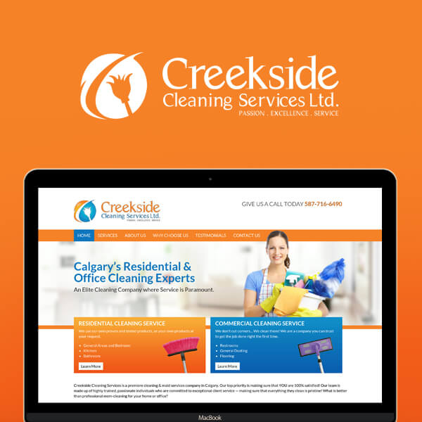 Creekside Cleaning Service Calgary Branding