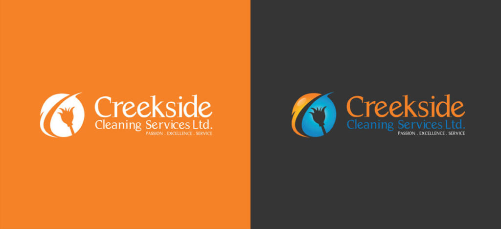 Logo Design Creekside Cleaning Service