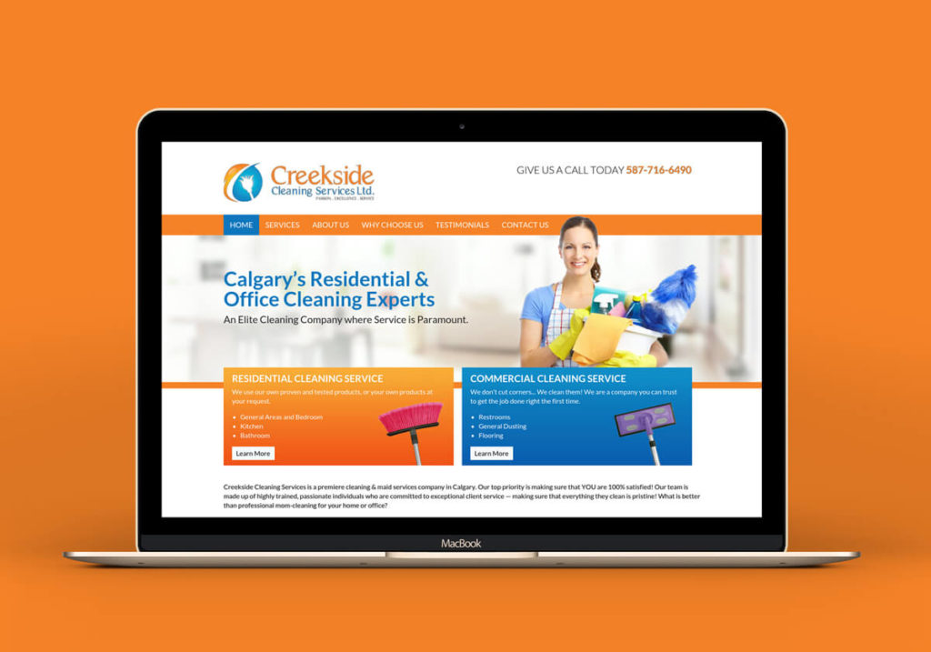Website Design Creekside Cleaning