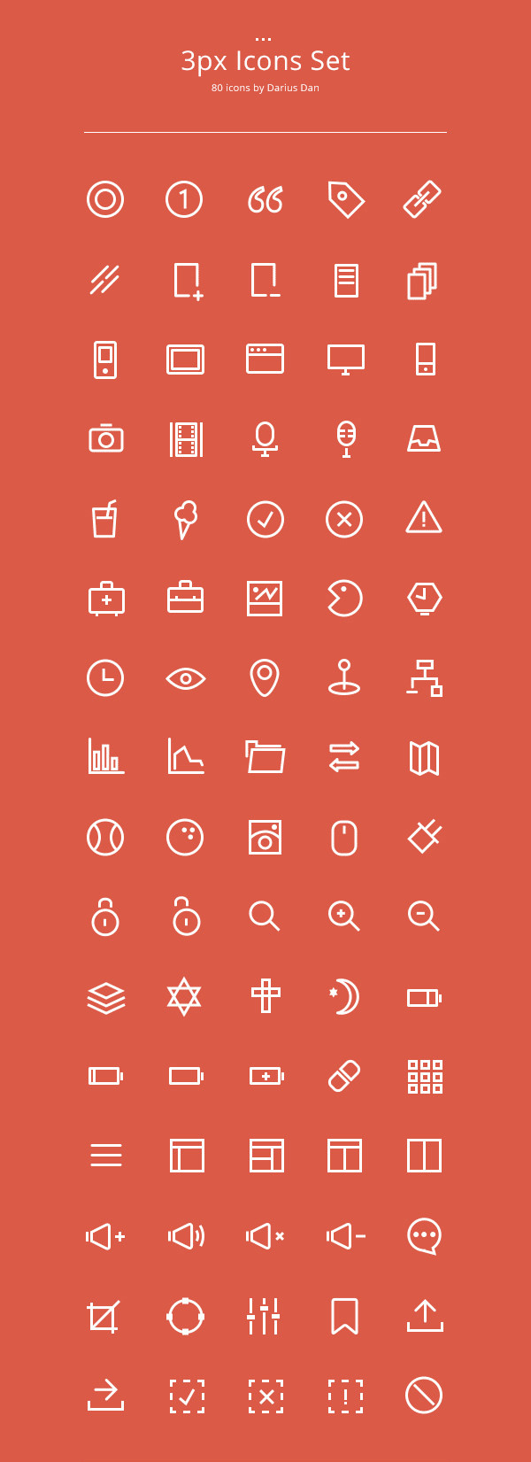 3ox Outline Icons Set